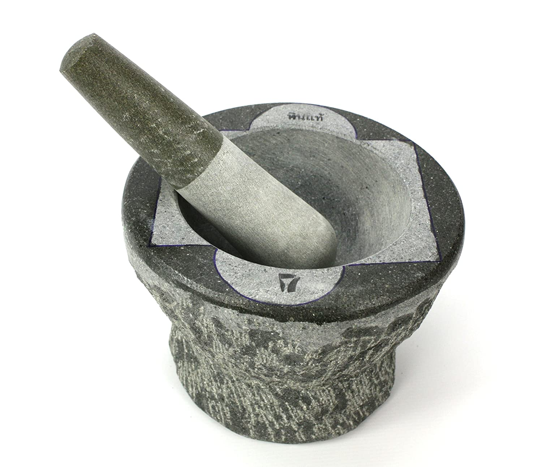 Thai Stone Mortar and Pestle, Large, 7 inch size Farang
