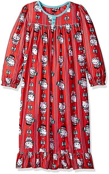 Hello Kitty Niñas Red Holiday Granny Nightgown Bata para Dormir - Rojo -: Amazon.es: Ropa y accesorios