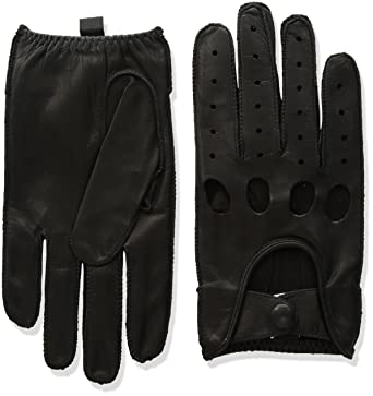 35da353aab52f Isotoner Men's Smooth Leather Driving Glove With Covered Snap at Amazon  Men's Clothing store: Cold Weather Gloves
