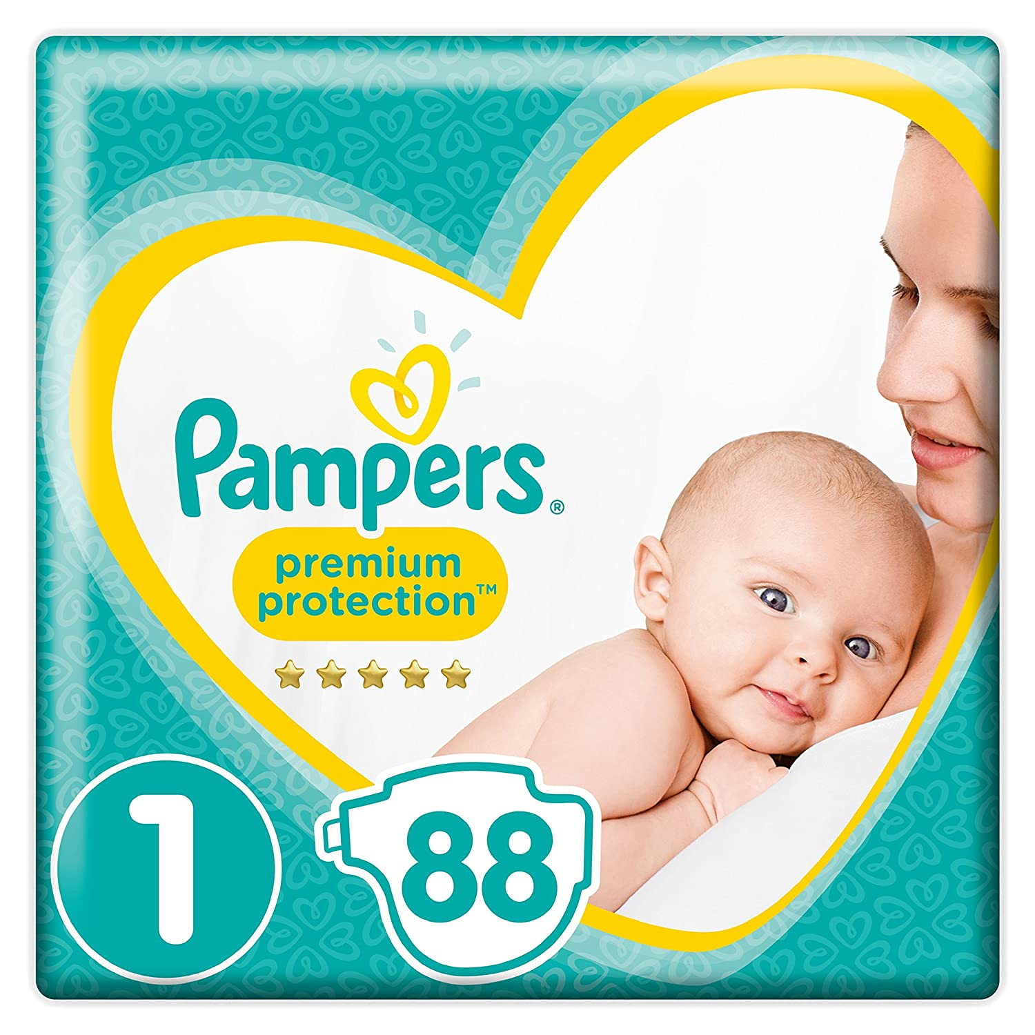 Pampers - New Baby - Couches Taille 1 (2-5 kg) – Lot de 2 packs x44 (88 couches) 4015400836025