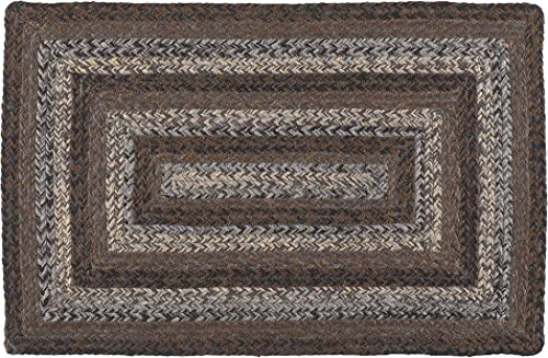 IHF Home Decor Night Shadow Jute Braided Rug