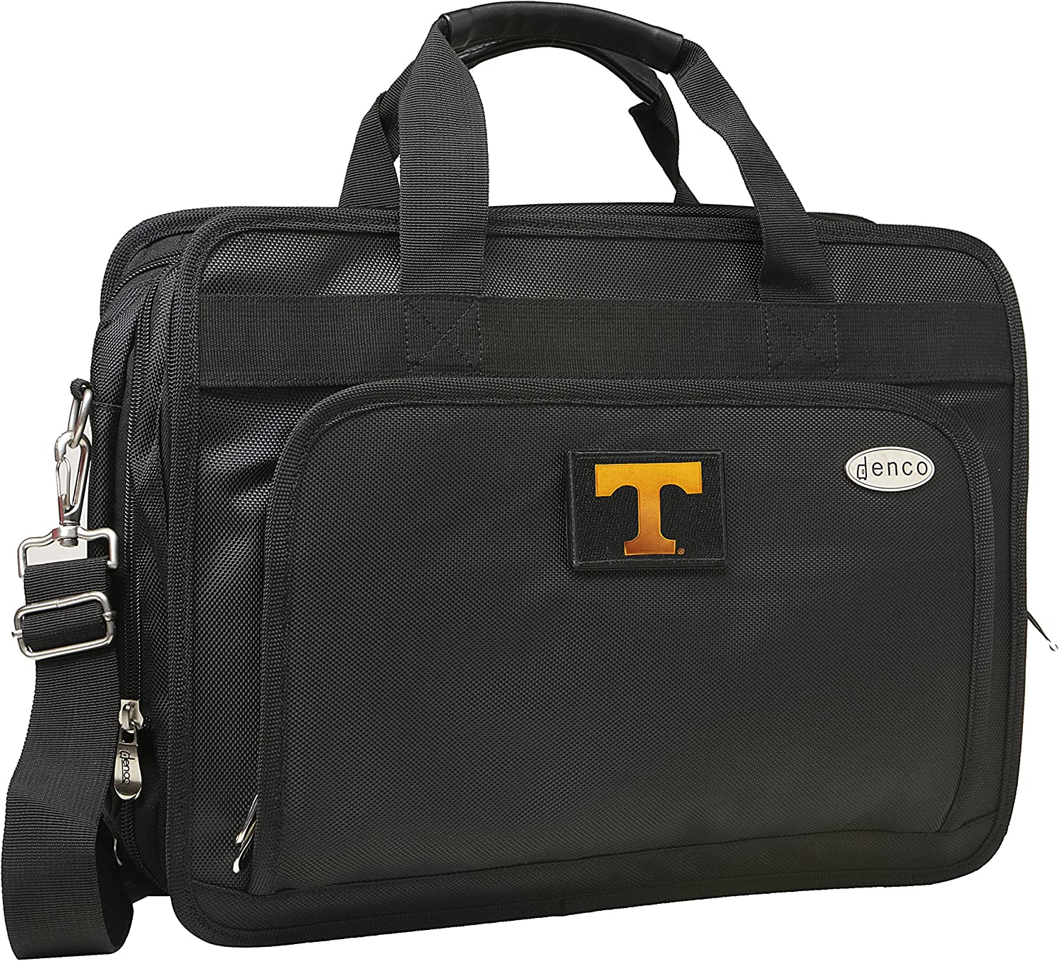 13-Inch Black Denco NCAA Tennessee Volunteers Expandable Laptop Briefcase