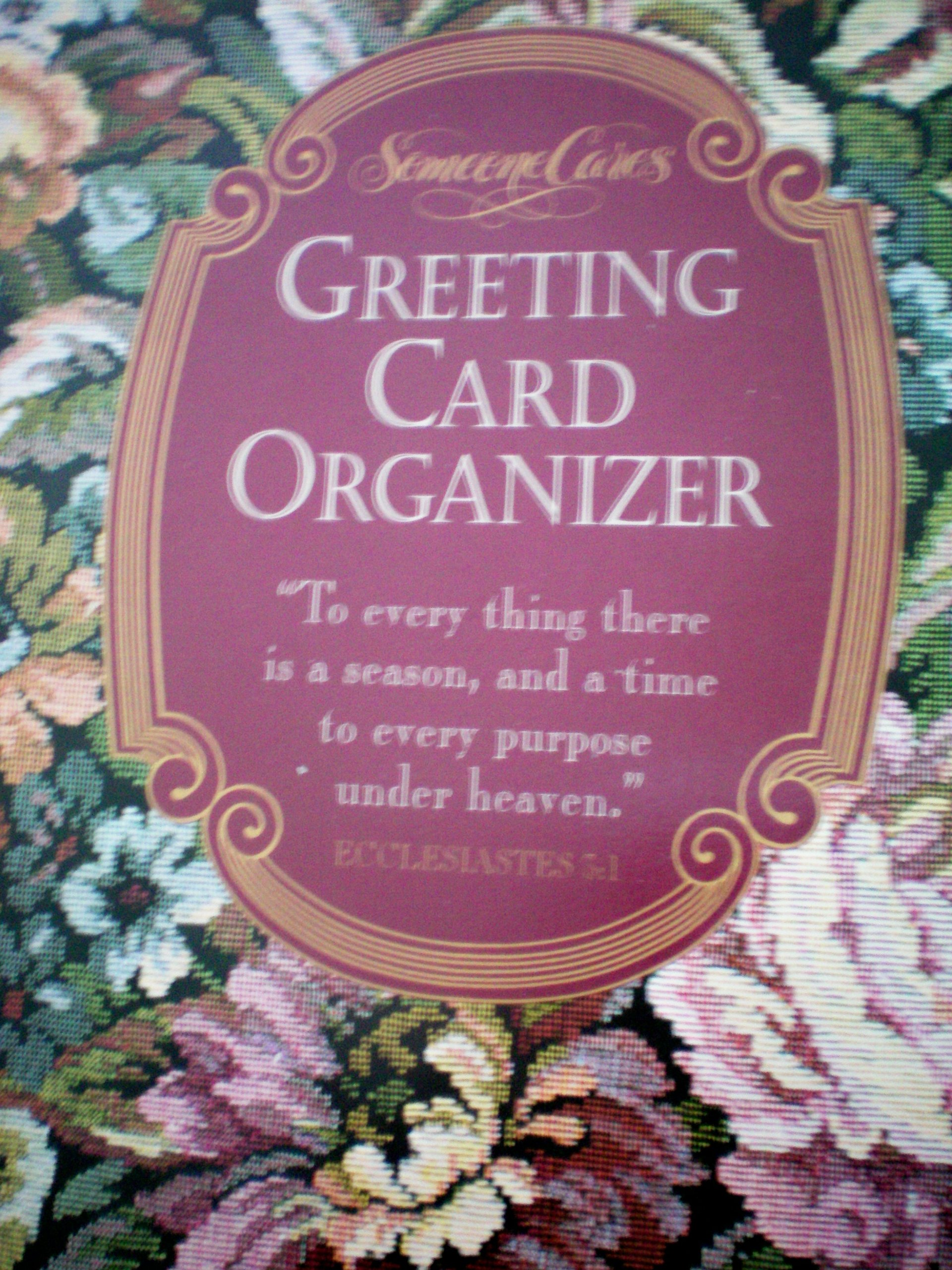 Greeting card organizer guideposts amazon books m4hsunfo