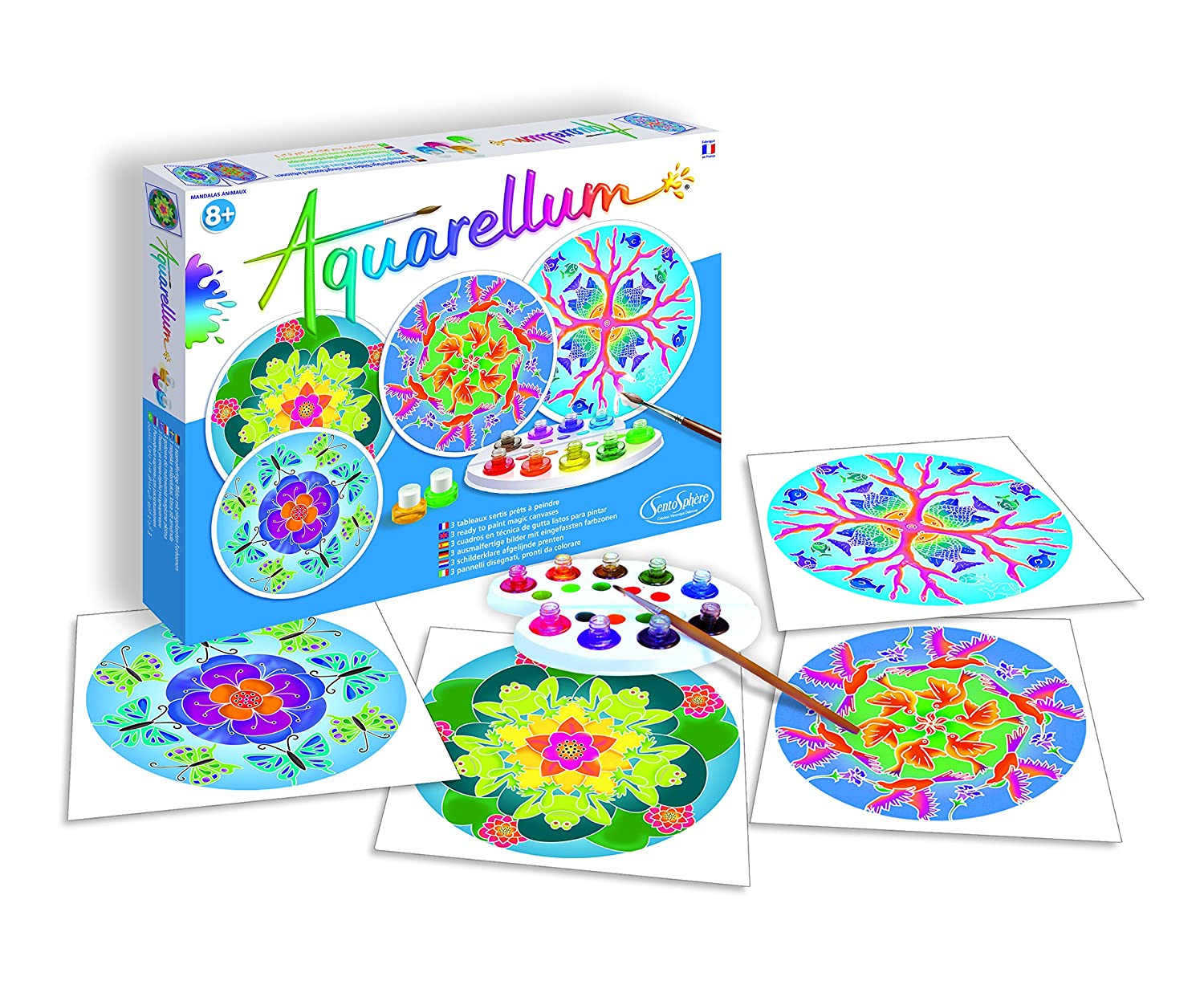 SentoSphere Aquarellum Magic Art Canvases - Animal Mandalas