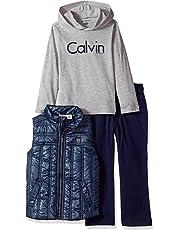 Calvin Klein Little Boys' 3 Pc Vest Set