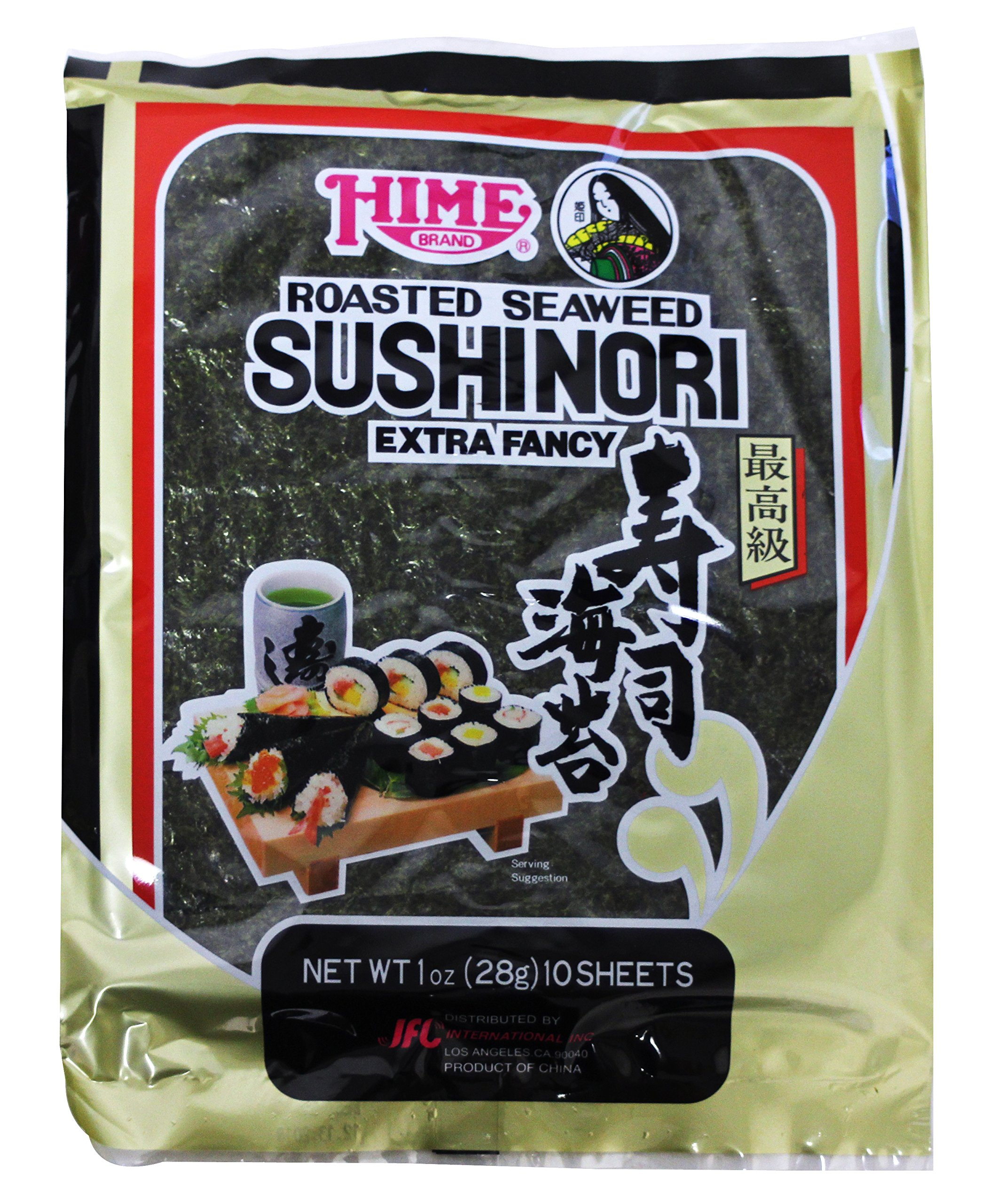 Hime Tempura Batter Roasted Seaweed Sushinori Wrap, 1 Ounce - 10 per pack - 12 packs per case.