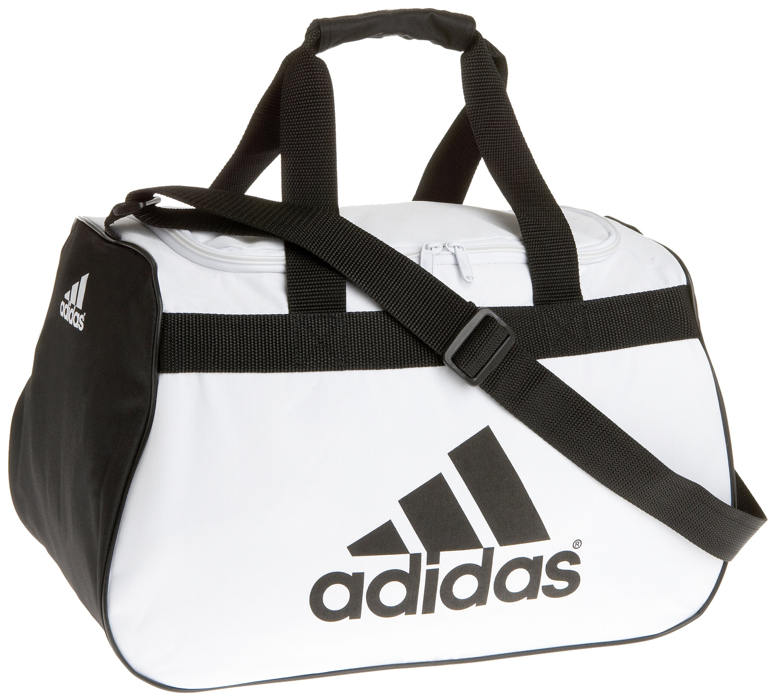adidas Diablo Small Duffel Bag, White/Black, One Size