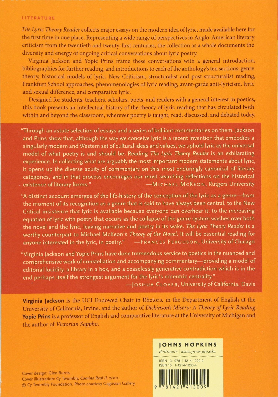Amazon.com: The Lyric Theory Reader: A Critical Anthology (9781421412009):  Virginia Jackson, Yopie Prins: Books