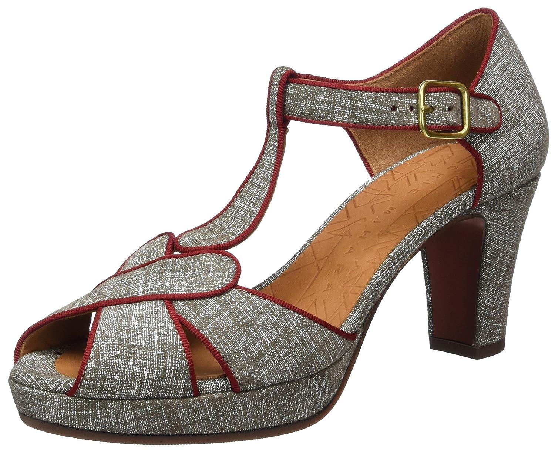 Chie MiharaIgi - Sandalias de Punta Descubierta Mujer, Color Gris, Talla 39 EU: Amazon.es: Zapatos y complementos