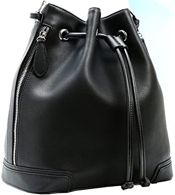 Amazon.com: Kenoor Leather Bucket Bag Handbags Crossbody Shoulder ...