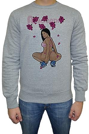 Nicki Minaj Anaconda Herren Sweatshirt Jumper Pullover Grau