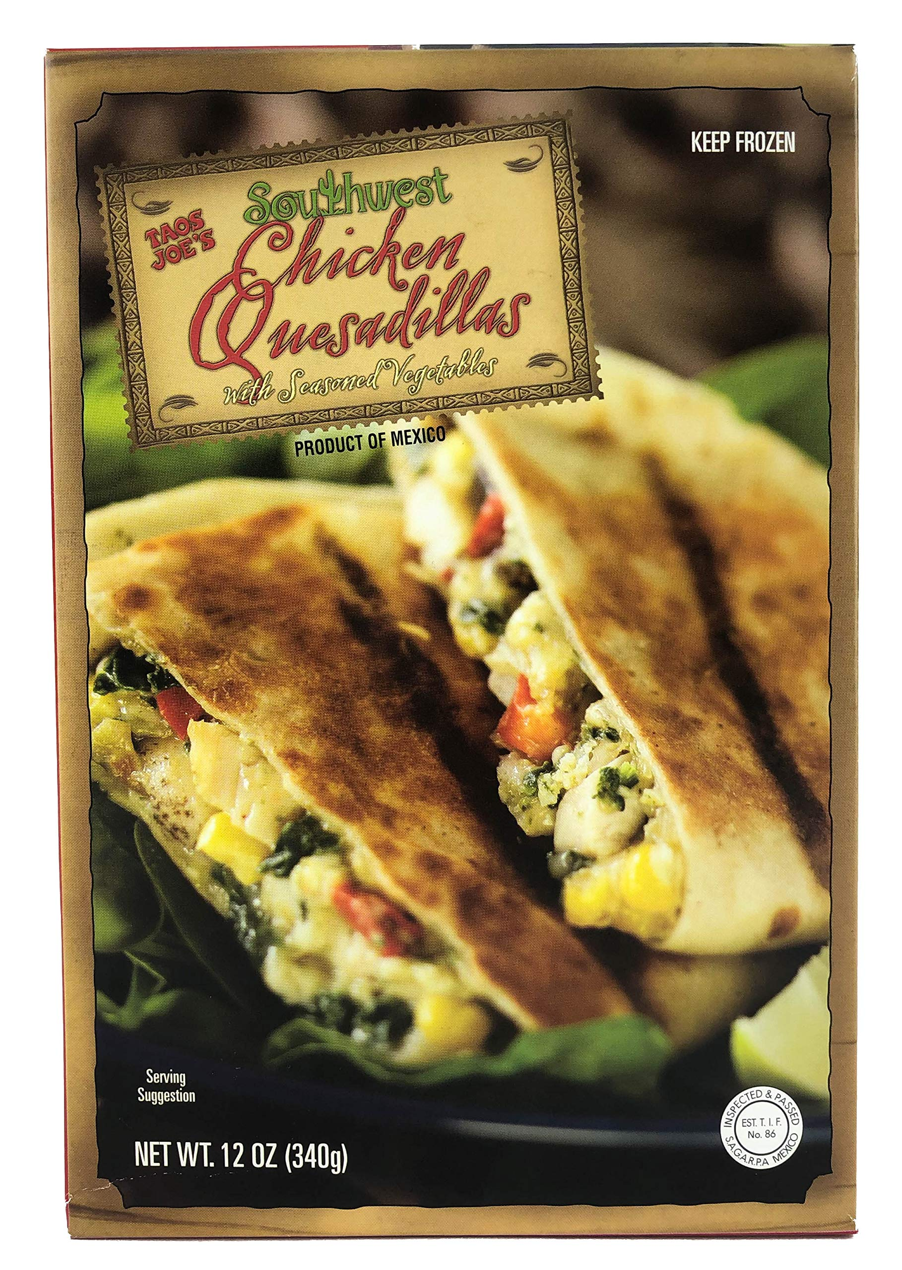 Trader Joe's Southwest Chicken Quesadillas with Seasoned Vegetables (6 Pack)