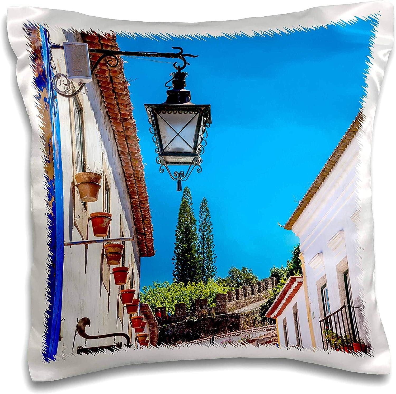 Amazon Com 3drose Danita Delimont Portugal Medieval Town Obidos Portugal 16x16 Inch Pillow Case Pc 313836 1 Kitchen Dining