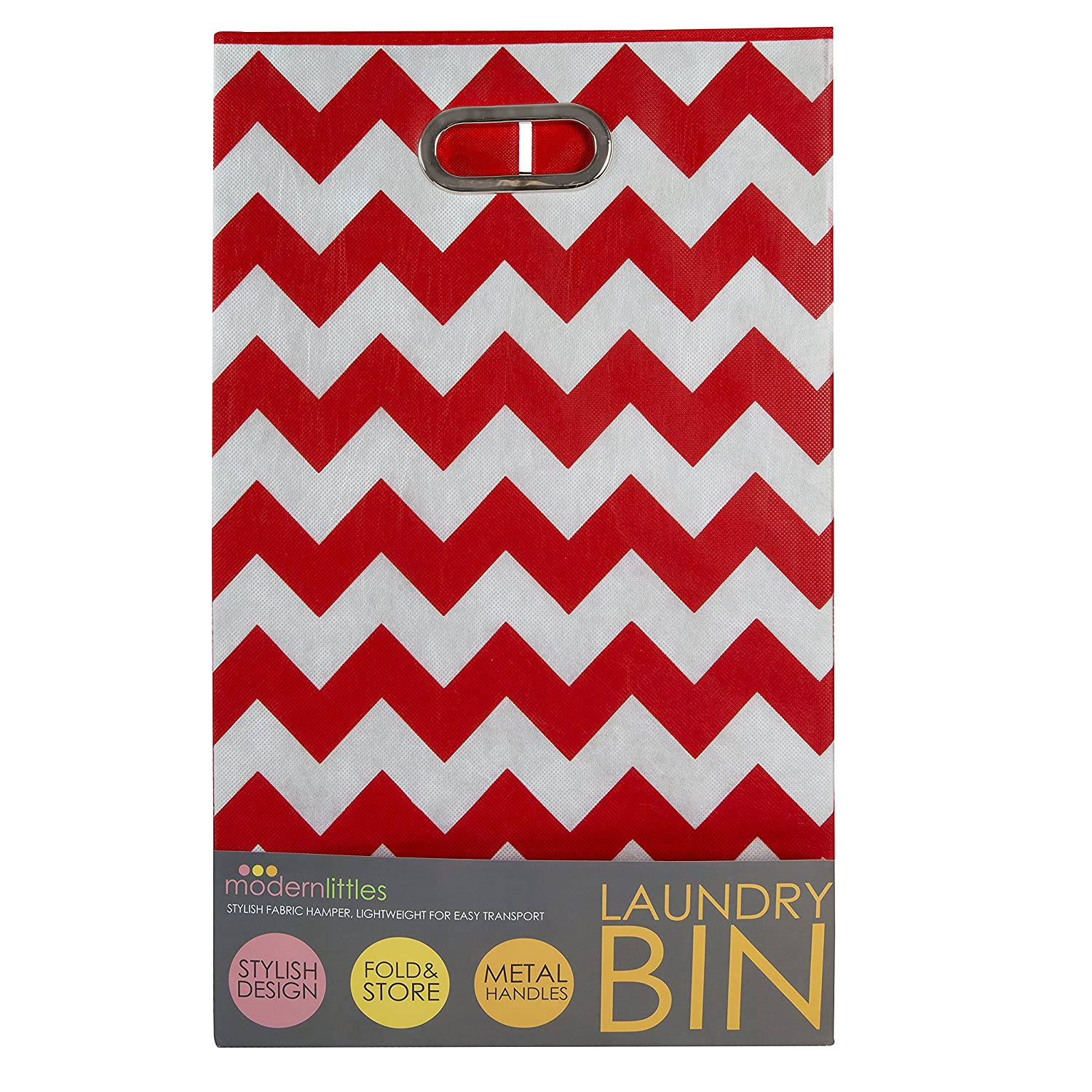 Modern Littles Laundry Basket Bold Chevron, Orange BLDLAUN113