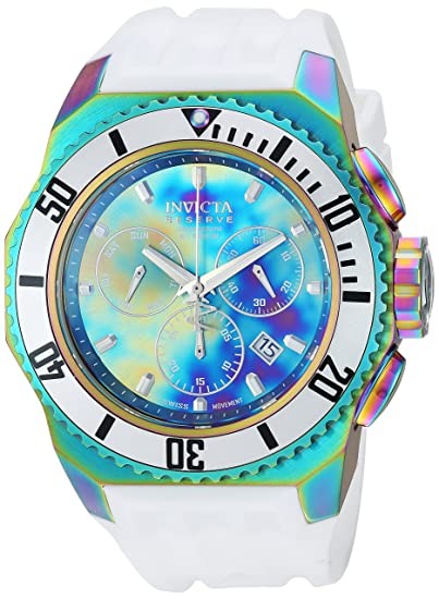 Invicta Men's 'Russian Diver' Quartz Stainless Steel and Silicone Casual  Watch, Color: