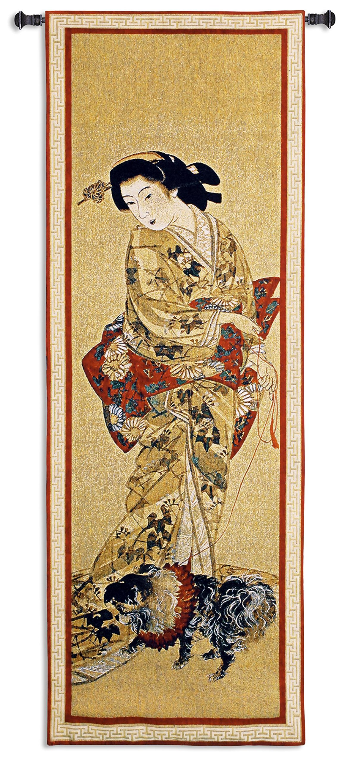 Fine Art Tapestries ''Lady With A Dog'' Wall Tapestry