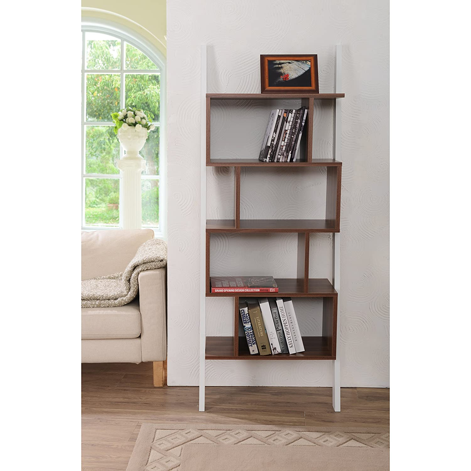 modern on wall with bottom white surprising bookshelf bookcase door and hanging cabinets drawers doors astonishing amusing books inside glass bookcases