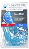 TheraPearl Face Mask, Reusable Hot Cold Therapy Mask with Gel Beads, Flexible Hot Cold Compress for Acne, Best Spa Wrap for Swollen Face, Puffy Eyes, Relaxation, Stress Relief, Secret Santa Gift