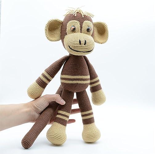 Brauner Affe Plüschtier Amigurumi Häkeln Flauschige Gegenwart