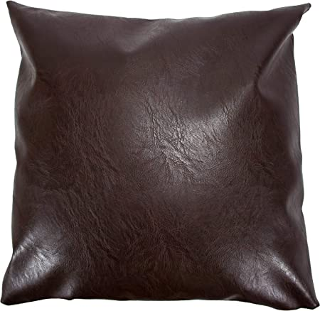 A1 Depot Faux Leather Pillow Covers Set of 2 for Couch Sofa Chair Bed Modern Home Decor Soft Thick & Durable Decorative Throw Pillows Cases