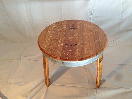 Amazoncom Wine Barrel Table Patio Side Tables Garden Outdoor