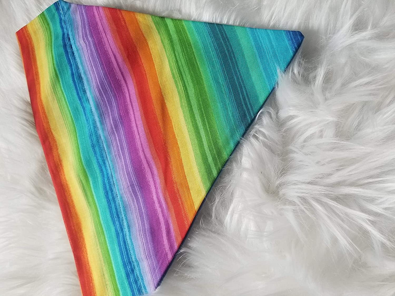 Colorful Rainbow Over the Collar Dog Bandana Extra Extra Small