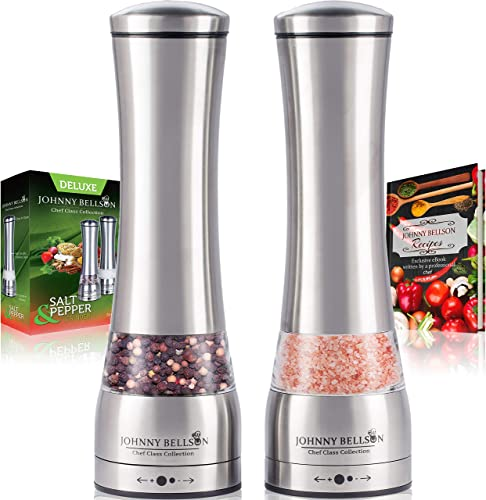 Premium Stainless Steel Salt and Pepper Grinder Set