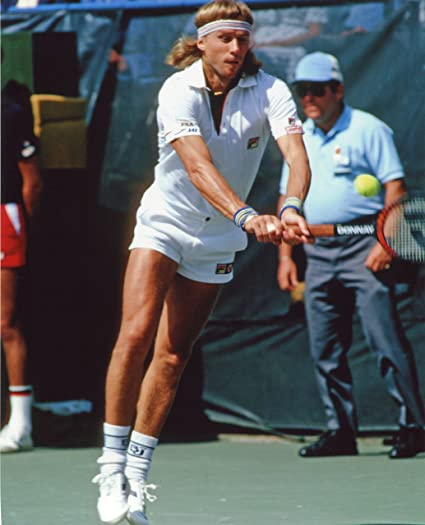 Amazon Com Bjorn Borg Tennis Legend 8x10 Sports Action Photo Xxxl