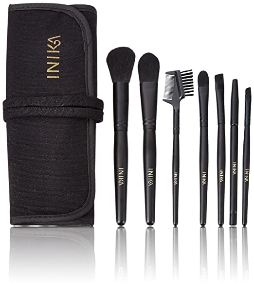Inika Professional Vegan Brush Roll Set
