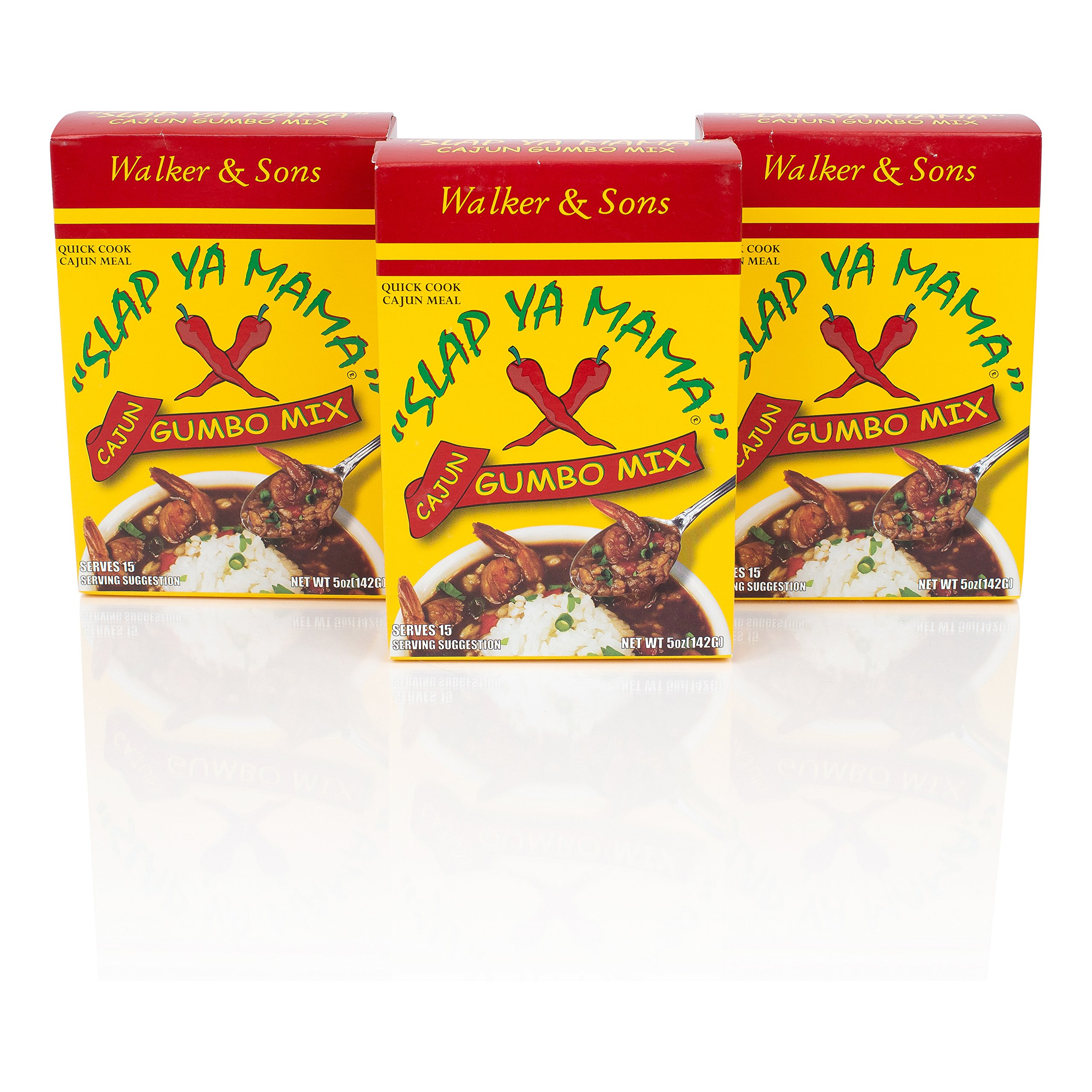 Slap Ya Mama Louisiana Style Gumbo Dinner Mix, Quick and Easy Cajun Meal, 8 Ounce Box, Pack of 3