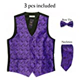 WANNEW Mens Vest Suit Vests Tuxedo Vest Vest for