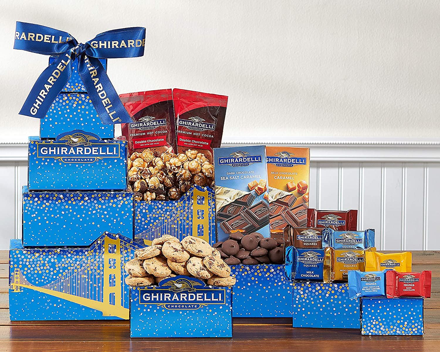 Wine Country Gift Baskets Deluxe Ghirardelli Gift Tower