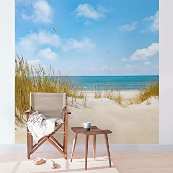 Vlies Fototapete Strand an der Nordsee - ORIGINAL XXL Vliestapete ...
