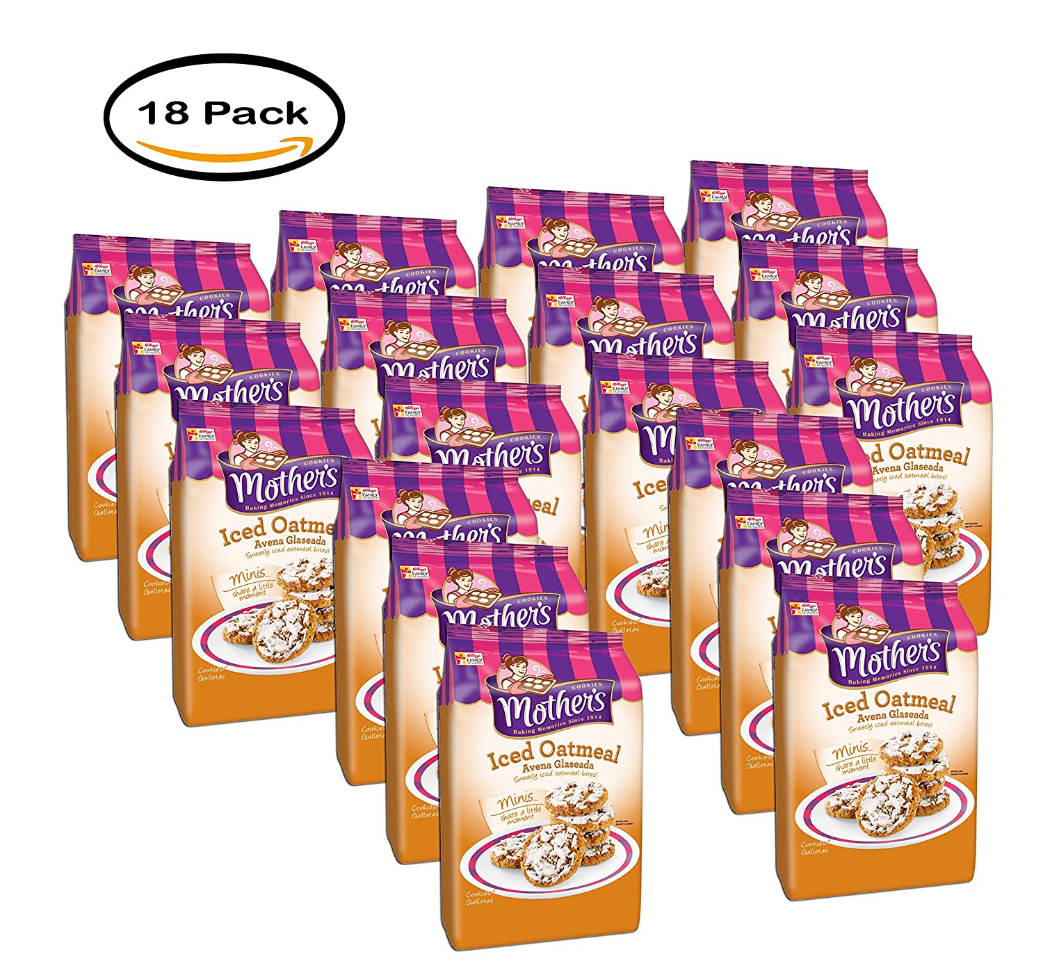 Amazon.com : PACK OF 18 - Mothers Iced Oatmeal Cookies ...