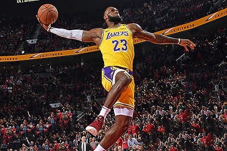 e2affbb8f0a7e Amazon.com : Lebron James Los Angeles Lakers Poster Photo Celebrity ...
