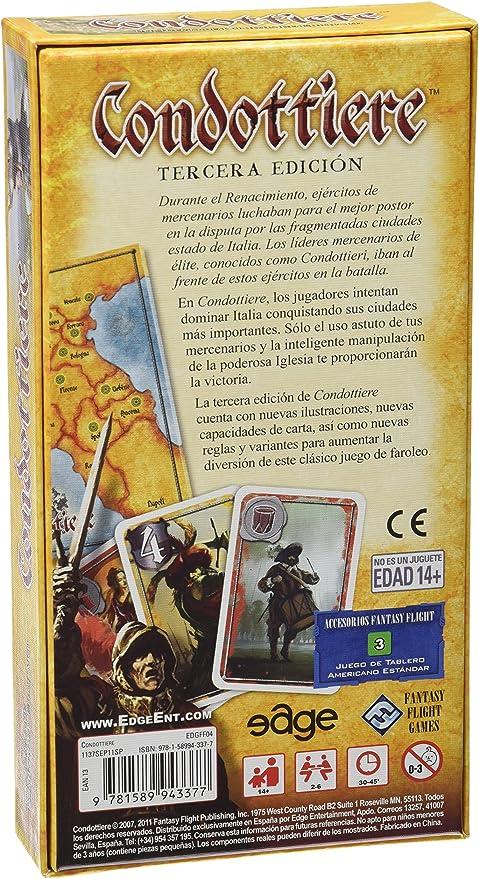 Edge Entertainment - Condottiere, juego de cartas (EDGFF04): Ehrhard, Dominique: Amazon.es: Juguetes y juegos