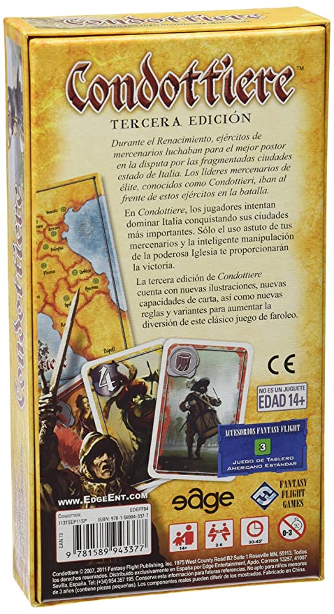 Amazon.com: Condottiere: Dominique Ehrhard: Toys & Games