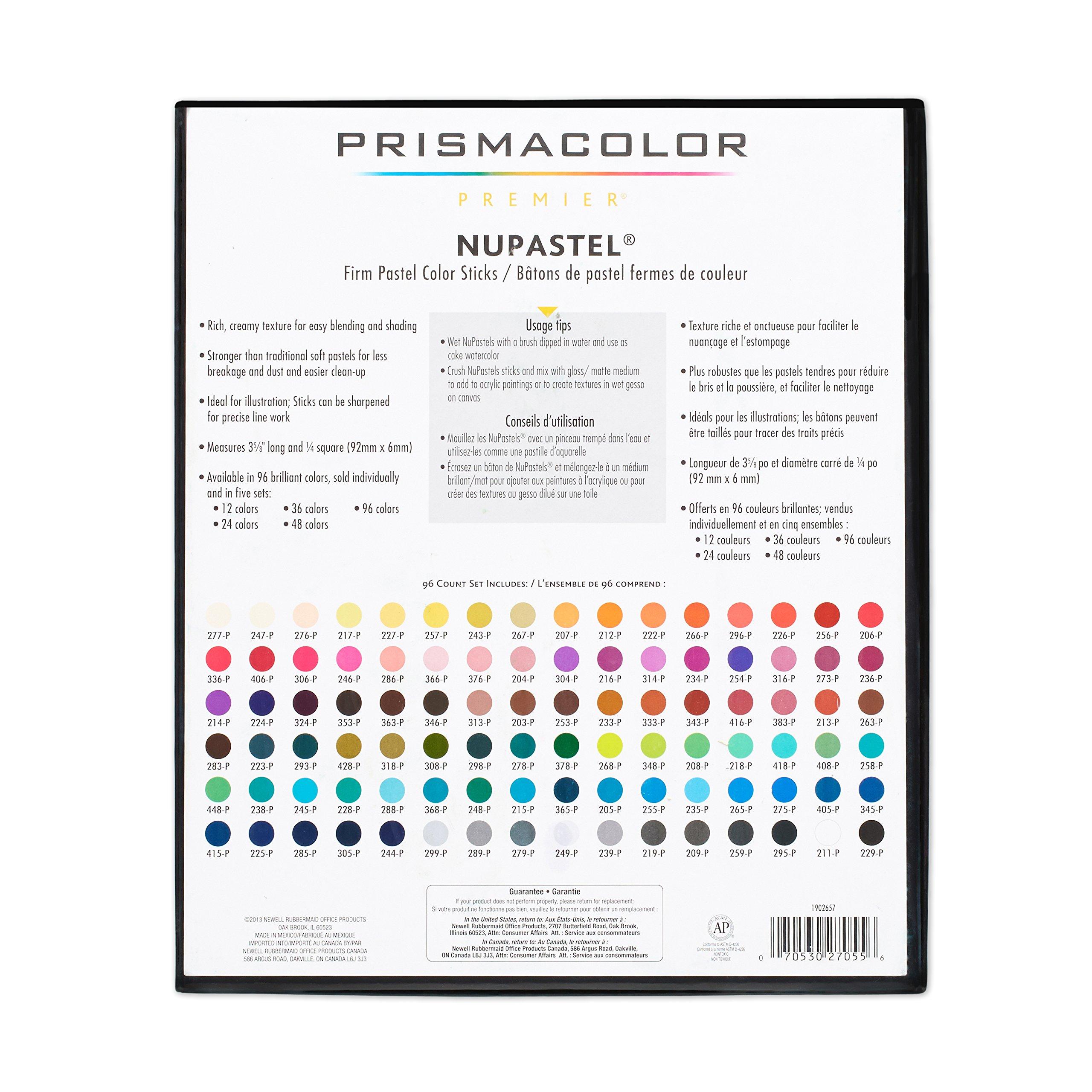 Prismacolor 27055 Premier NuPastel Firm Pastel Color Sticks, 96-Count by Prismacolor (Image #13)