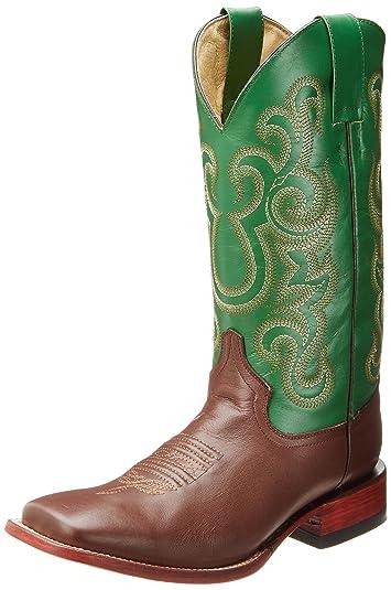 Ferrini Ferrini Men s Cowhide Western Boot Brown Green Retail