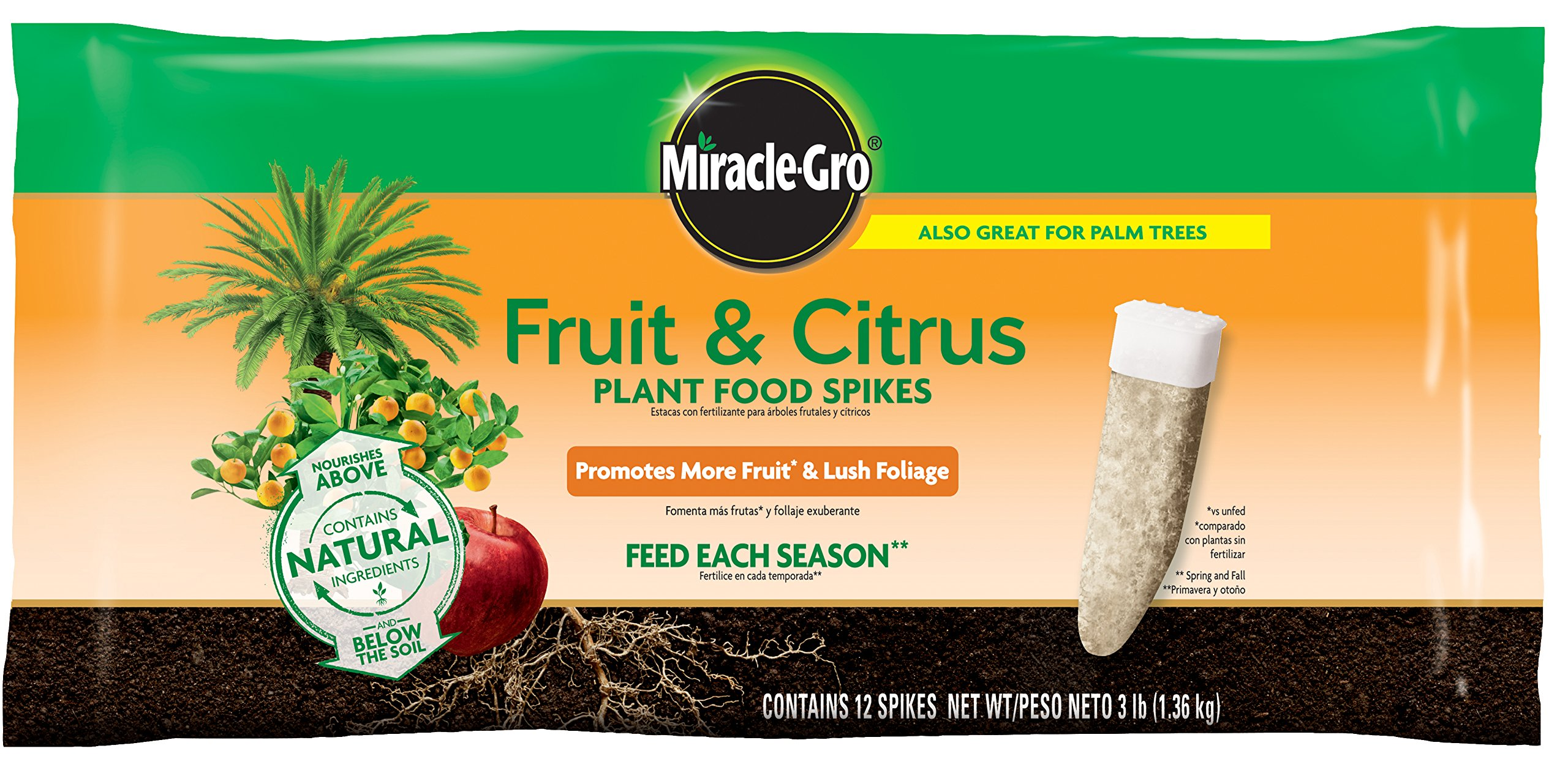 Miracle-Gro Fruit & Citrus Fertilizer Spikes - 12 PK by Miracle-Gro
