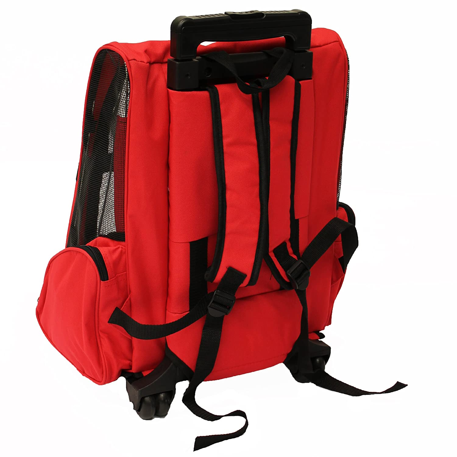 54c5c2b4ce2b Mool Pet Carrier Backpack with Integrated Trolley and Telescopic Handle