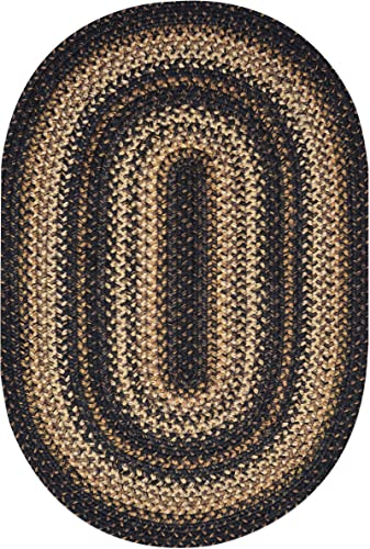 Homespice Oval Jute Braided Rugs, 5-Feet by 8-Feet, Kilimanjaro