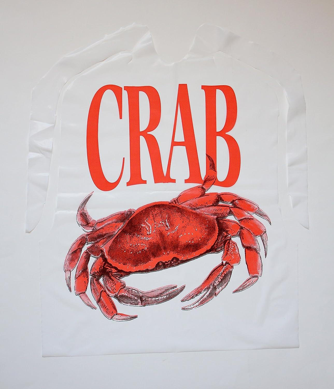 100 Pack Disposable Plastic Crab Bib