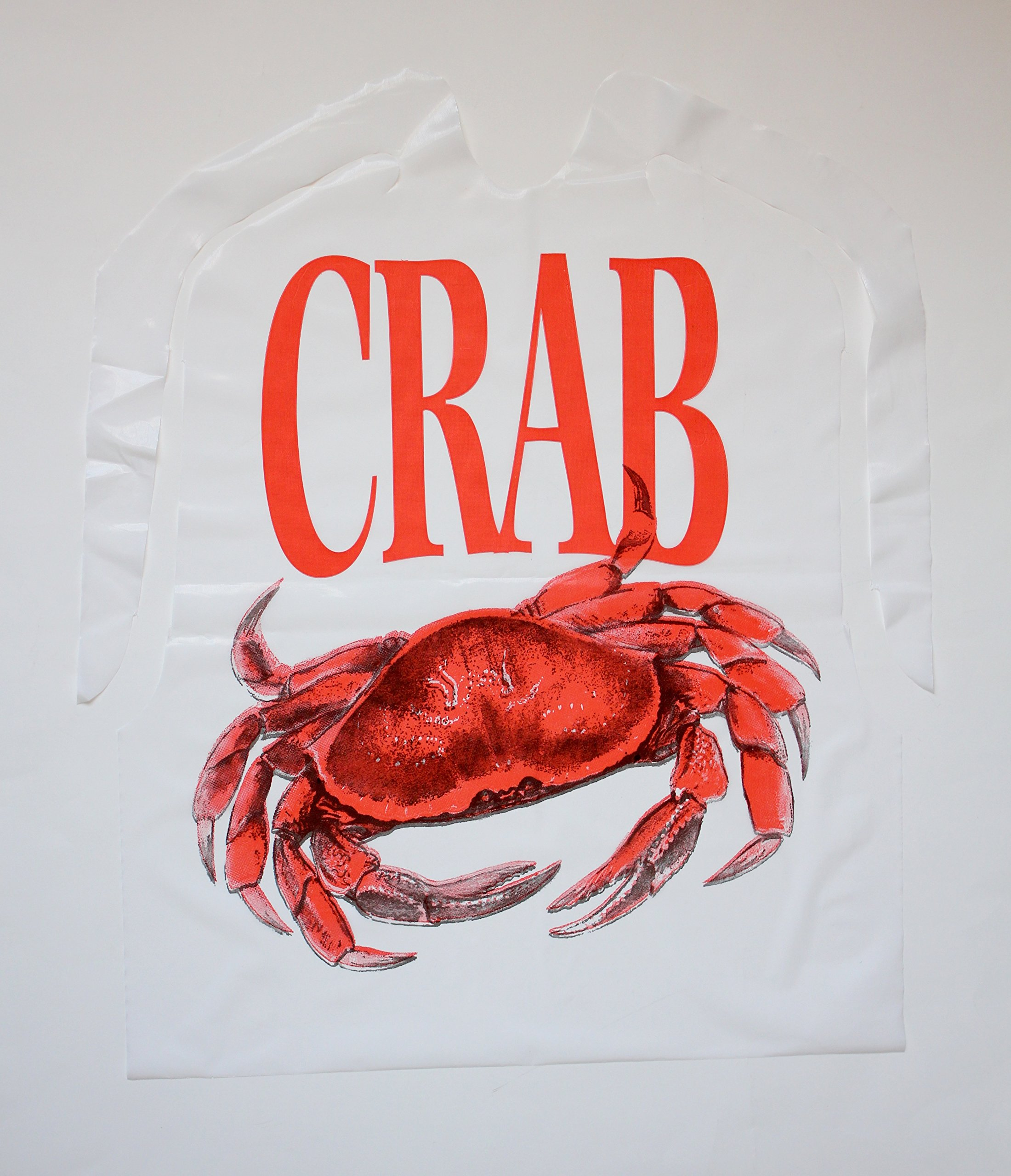 TIDI Products 313-25Pack Disposable Plastic Crab Bib, 1'' Height, 9'' Width, 12'' Length (Pack of 25)