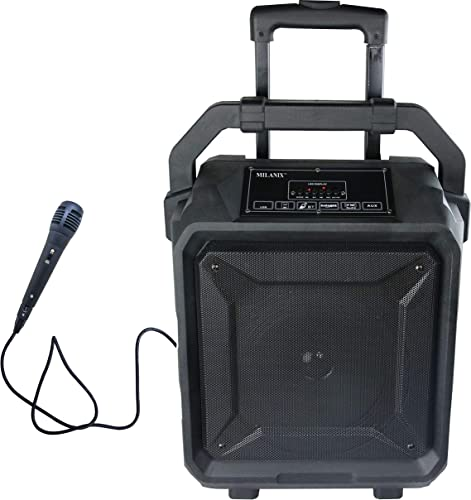 Milanix Tailgate Portable Bluetooth PA Karaoke Speaker