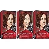 REVLON Colorsilk Beautiful Color Permanent Hair Color with 3D Gel Technology & Keratin, 100% Gray Coverage Hair Dye, 37 Dark