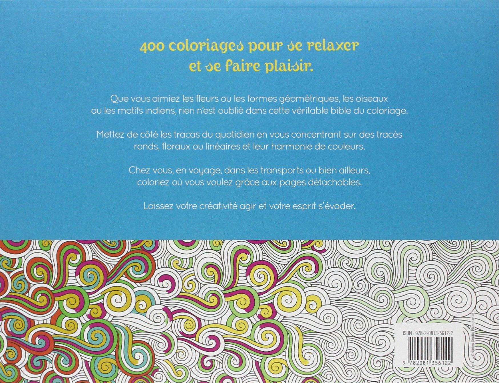 Amazon Couleurs thérapie 400 coloriages de relaxation Flammarion Livres