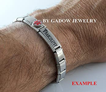Gadow Jewelry 2 Pcs Scoliosis Medical Alert ID Italian Charms for Bracelet Men or Women Awareness Stainless Steel