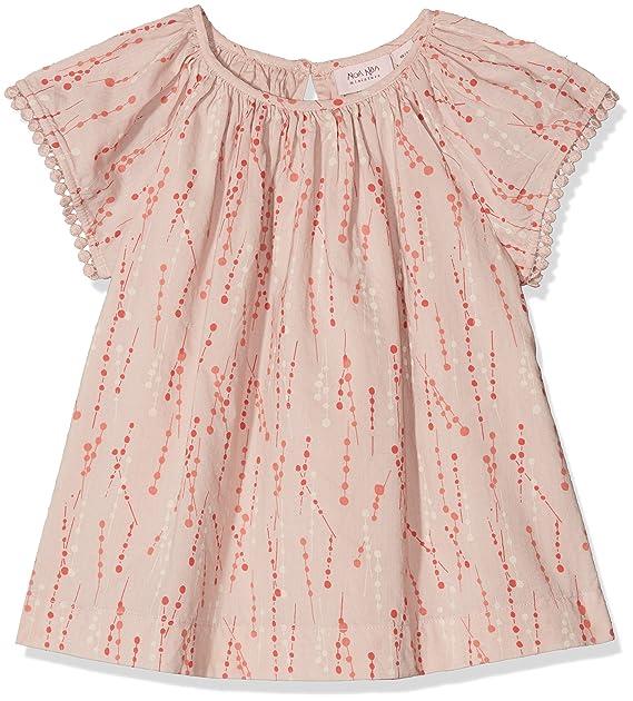 Noa Noa miniature Blouse,Short Sleeve, Blusa Niñas, Rosa (Shadow Gray 502