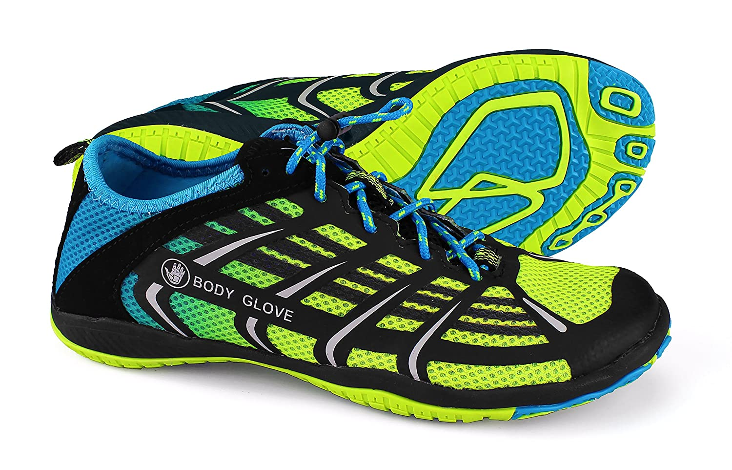 [ボディグローブ] Women 's Dynamo Rapid Water Shoe 6 B(M) US Neon Yellow/Neon Blue B077GC89WJ